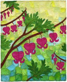 "Bleeding Hearts, by Kirsten Chursinoff 2011 7"" x 5"""