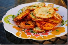 Garlic Parmesean Baked Fries - I'll take any excuse to eat a potato. Make sure to either cover the pan in tin foil or spray it with non-stick spray. They taste great but stick to the pan.