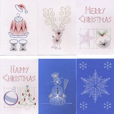Value Pack No. 4: Christmas in Christmas patterns at Stitching Cards - ePatterns for paper embroidery