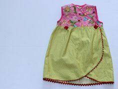 Dress Free Pattern: Kimono Wrap dress with Tulip Hem size 3T