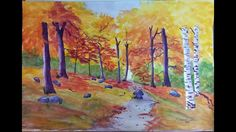 Autumn Watercolor Painting