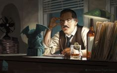 INSPECTOR JOHN LEGRASSE, my latest card for CALL OF CTHULHU.