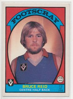 SCANLENS VFL AFL 1978 FOOTBALL FOOTY CARD BRUCE REID FOOTSCRAY BULLDOGS 73 NICE au.picclick.com Football Cards, Football Players, Baseball Cards, Western Bulldogs, Great Team, Red White Blue, Melbourne, Nostalgia, The Past
