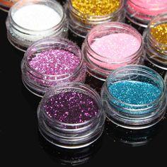30 Colors 1 Set Glitter Spangle Eye Shadow Powder Pigment Kit Makeup Cosmetic Tool at Banggood Makeup Tools, Makeup Brushes, Eye Makeup, Embroidery Materials, Glitter Eyeshadow, Body Art Tattoos, Makeup Cosmetics, Fragrance, Eye Shadow