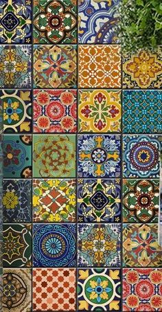 Beautiful tile in talavera style adds richness and color to any room.