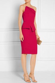 Crimson wool-crepe Zip fastening through back 100% wool; lining: 93% silk, 7% elastane Dry clean Made in the UK