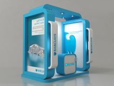 Barclays bank booth by Ahmed Ismail, via Behance