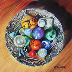 """A Favorite Collection by Marie Tippets Pastel ~ 6"""" x 6"""""""
