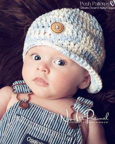 Hey, I found this really awesome Etsy listing at https://www.etsy.com/listing/77044687/crochet-pattern-newsboy-visor-hat