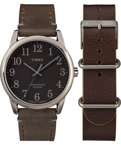 6c0add6d6 TIMEX Easy Reader 40th Anniversary Special Edition 38mm Leather Strap Watch  Gift Set. #timex