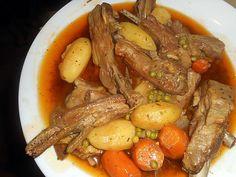 La meilleure recette de Poitrine d agneau en ragout! L'essayer, c'est l'adopter! 5.0/5 (5 votes), 6 Commentaires. Ingrédients: 1 kg 200 de poitrine d agneau, 4 carottes, 10 petites pommes de terre,125 gr de petit pois écossés( perso congelés) 2 oignons, une gousse d ail,un bouquet garni,huile d olive, farine, 50 cl de bouillon de volaille,une cac de coriandre en poudre , concentré de tomate, sel, poivre
