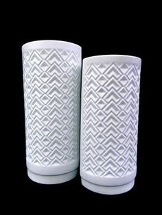 The End of History - Bavarian matte white porcelain vases from West Germany. Ceramic Decor, Ceramic Bowls, Porcelain Vase, White Porcelain, Decorative Screens, Vintage Vases, White Vases, Pillar Candles, Tea Pots