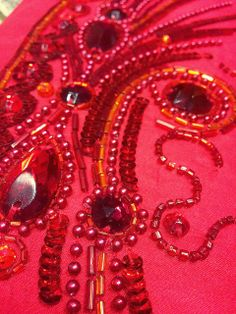 Beading Arts: New online tambour beading class available.and a giveaway! Tambour Beading, Tambour Embroidery, Bead Embroidery Jewelry, Embroidery Stitches, Embroidery Ideas, Bead Crafts, Diy And Crafts, Lesage, Gold Work