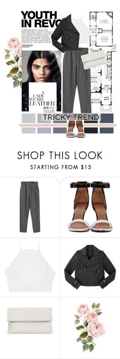 """""""Tricky Trend: Daytime Pajamas"""" by ievish ❤ liked on Polyvore featuring Hedi Slimane, Chicnova Fashion, Givenchy, rag & bone, Marc by Marc Jacobs, Whistles, TrickyTrend, contestentry and polyvorecontest"""