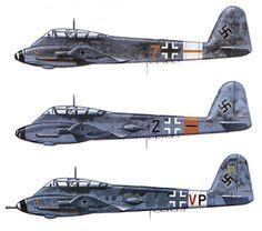 """Fritz Wendel, der Cheftestpilot der Messerschmitt A.G. sagte über die Me 210, daß sie die am wenigsten wünschenswerten Eigenschaften hatte, die ein Flugzeug besitzen konnte und schätzte sie nach der He 177 als die größte Fehlentwicklung der Luftwaffe im ganzen Krieg ein. """"Sogar die überarbeitete Me 410 erfüllte nicht alle unsere Hoffnungen."""" Die Me 210, eine sauber aussehende Konstruktion, die der de Havilland Mosquito ähnelte, wurde Ende 1941 an der russischen Front eingesetzt."""