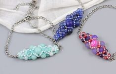 DIY návod na náramek Sephera s minerály. Beaded Jewelry, Beaded Bracelets, Pandora Charms, Charmed, Drop Earrings, Patterns, Fashion, Block Prints, Moda