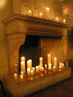 Candles For Fireplace Decor a faux fireplace created from an old armoire? repurpose is the