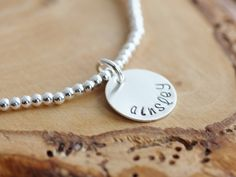 Personalized Silver Name Bracelet - Adjustable, Hand Stamped - Leigh | 2 Sisters Handcrafted visit www.2sistershandcrafted.com for more details