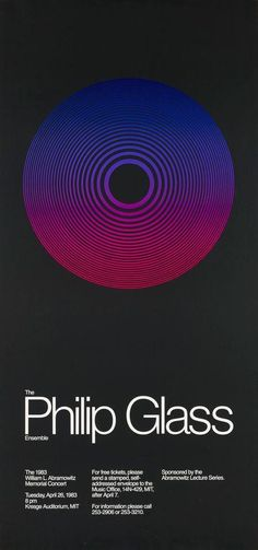 Jacqueline Casey – The Philip Glass Ensemble, MIT 1983 Philip Glass, Visualising, Sound & Vision, Music Posters, Graphic Designers, Business Cards, Singers, Grid, Glass Art