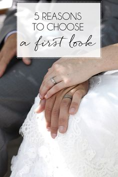 Five reasons to choose a first look for your wedding day photography.