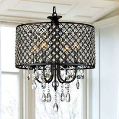 Shop for Warehouse of Tiffany Ninian Oiled-rubbed Bronze Crystal/Metal Chandelier with Fabric Drum Shade. Get free delivery On EVERYTHING* Overstock - Your Online Ceiling Lighting Store! Get in rewards with Club O! Round Crystal Chandelier, Bronze Chandelier, Mini Chandelier, Chandelier Lighting, Lighting Store, Country Chandelier, Bathroom Chandelier, Wheel Chandelier, Closet Lighting