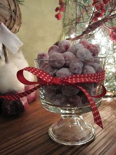 Sugared Cranberries from taylor made-perfect for the season!
