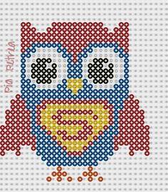 Superman owl perler pattern by Pia Petrea