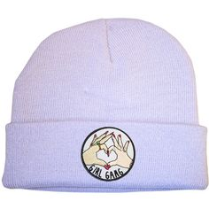 Girl Gang Lilac Beanie Hat 90s Raver Stoner Hipster Skater Cute... ($11) ❤ liked on Polyvore featuring accessories, hats, cotton beanie hat, beanie caps, skater beanie, patch hat and lilac hat