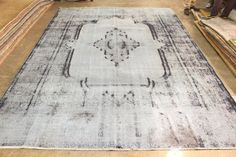 Boho style Turkish Ushak Rug, Oushak Rug  Material : Wool on Wool  Size : 9.4 x 12.9 ft - 282 x 388 cm  Pattern : Vintage Oriental    About this Rug:  Vintage Handwoven Turkish Rug from 1940's, Woven in Anatolia.  Restored, cleaned, Ready to use!    All rugs will be sent with FedEx Express shipping services. You will receive your orders in 3-4 business days. We will provide tracking number.  We offer % 100 Refund, if you don't like or have a problem with rugs. In this case the buyer must pay…