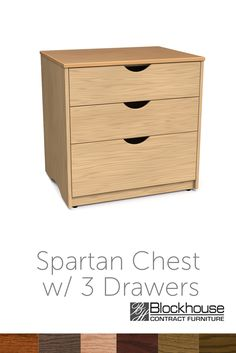 Shown Is Our Spartan Chest W/3 Drawers. The Finish Can Be Changed To