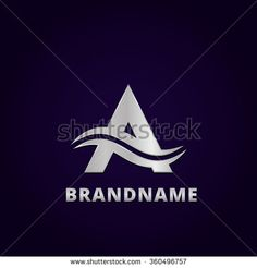 Abstract letter A business logo design template, emblem template editable for your business. - stock vector