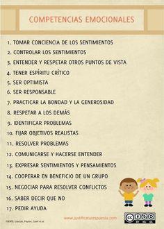 17 Competencias emocionales para enseñar a tus alumnos | RECURSOS AULA | Scoop.it
