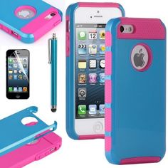 Pandamimi ULAK(TM) Navy Blue & Rose Pink Fashion Sweety Girls TPU + PC 2-Piece Style Soft Hard Case Cover for iPhone 5 5G with Free Screen Protector and Stylus by ULAK, http://www.amazon.com/dp/B00CM3IJZQ/ref=cm_sw_r_pi_dp_Jg2Hrb185F2RG