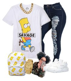 """Simpson"" by timiabg ❤ liked on Polyvore featuring ElevenParis, Michael Kors and NIKE"