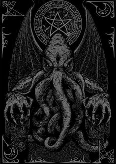 thescariestdarkness:The Craziest Horror Video! All caught on Film Cthulhu Tattoo, Cthulhu Art, Call Of Cthulhu, Hp Lovecraft, Lovecraft Cthulhu, Arte Horror, Horror Art, Dark Fantasy, Lovecraftian Horror
