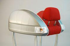 Rear view of Vespa seat. Single Version.