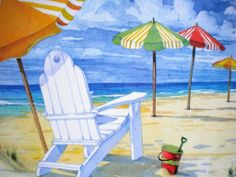 """Beach Umbrellas Washable Plastic Vinyl Placemats Set of Four by SBF Gifts. $18.95. Size:  17 x 11.25 Inches. Made of Washable Vinyl. Set of Four Mats. Made in the USA of Recycled Materials. These washable vinyl placemats with Beach Umbrellas come packaged as a set of four mats.  They are made with recycled materials in the USA.  A search for """"Beach Umbrellas Melamine Serving Tray"""" and """"Beach Umbrellas Melamine Appetizer Plates"""" will bring up items with matching designs."""