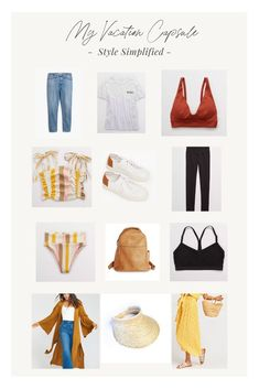 Consider planning a vacation capsule wardrobe for your adventure to make packing, going, and unloading so easy and entirely more convenient! Here are all the tips you need plus a sample list of what to bring! Beach Attire, Everyday Outfits, Clothing Items, Capsule Wardrobe, Maui, Trendy Outfits, Rid, Personal Style, I Am Awesome