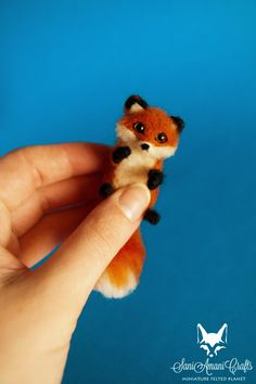 SaniAmaniCrafts: Tiny red fox miniatures for doll house