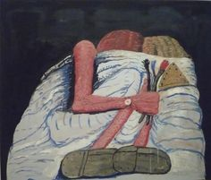 Couple in bed - Philip Guston