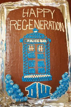 My daughter's Doctor Who birthday cake