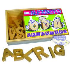 Alfabeto Recortado de Madeira, Alfabeto Recortado de Madeira Simque, Brinquedos Simque, Brinquedos de Madeira, Brinquedos Educativos, Alfabeto em Madeira,