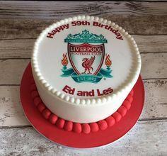 Liverpool football club logo cake, personalised.
