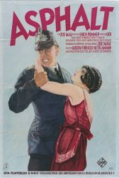 Asphalt (Joe May, 1929), one of Germany's last silent films and a late example of Expressionism where a policeman falls for a diamond thief he arrests, but she has a gangster boyfriend. Find this at 791.43743 ASP