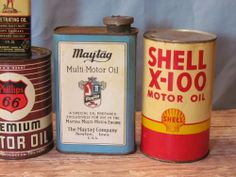 NICE Vintage 1940's Maytag FULL Unopened 1 qt. can washer motor oil