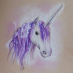Purple Unicorn Art Print, Fantasy Fairy Wall Art, Ready to Frame, Lilac Unicorn Home Decor, Nursery Wall Gifts Unicorn And Fairies, Unicorn Fantasy, Unicorns And Mermaids, Fantasy Art, Unicorn Painting, Unicorn Wall Art, Unicorn Drawing, Unicorn Room Decor, Unicorn Rooms