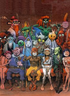 Jamie Hewlett art---Technically this isn't Gorillaz, but it is drawn in the same style and by the same godly god. :3