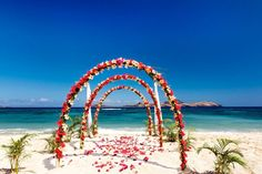 Destination beach #wedding at the Sheraton Resort and Spa Tokoriki Island in Fiji #SPGDreamWedding #SPGWeddings