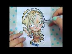 Copic Speed Coloring - Music Girl by Kristy Dalman  (http://www.theoddgirl.com/2011/08/speed-coloring/)