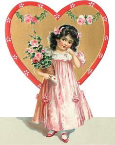 Wings of Whimsy: Valentine Heart Children Place Holders #vintage #ephemera…